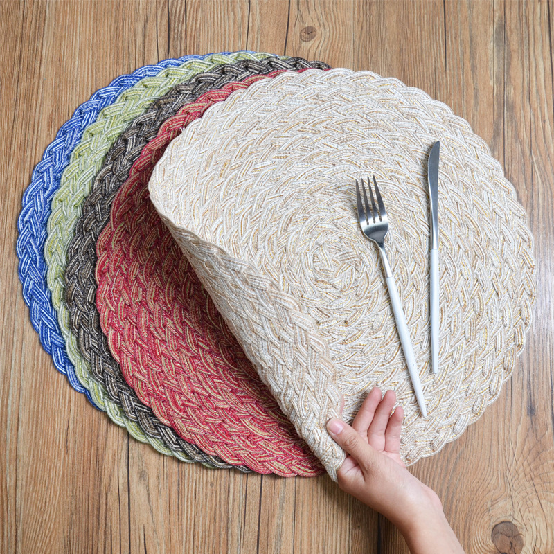 Round Braided Placemats Table, Table Placemats For Round Tables