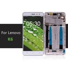 """5 """"สำหรับLenovo K6 PowerจอแสดงผลLCDหน้าจอสัมผัสDigitizerประกอบกับกรอบK33a42 K33a48 สำหรับLenovo K6 หน้าจอจัดส่งฟรี"""