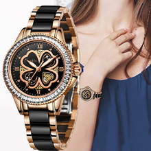 SUNKTA New Rose Gold Watch Women Quartz Watches Ladies Top Brand Luxury Female Wrist Watch Girl Clock Wife gift Montre Femme sekaro women luxury top brand watch ladys lucky flower fashion wrist watch women s wristwatch montre femme quartz watch for gift