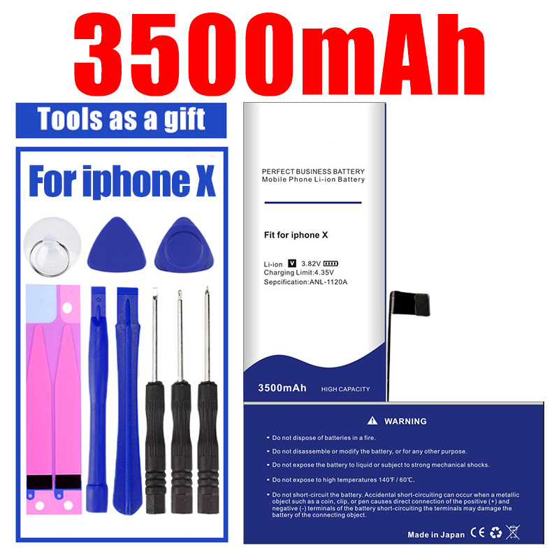 100% Brand New Battery In 2020 For IPhone X Large Capacity 3500mAh 0 Cycle Free Tool Kit