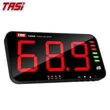 Tasi ta653b medidor de nível de som digital grande tela ruído display db medidor parede tipo suspensão transmissão dados usb medidor de áudio