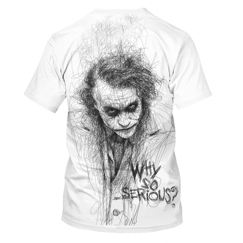 Fashion Mens Womens Funny Casual T-Shirt 3d print Movie Joker short-sleeved Tops