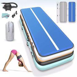 ¡Gran oferta! esterillas de gimnasia de 4 m, 5 m, 6 m, esterilla de pista de aire inflable para Yoga, esterilla de gimnasia olímpica, pista de aire para gimnasia para niños