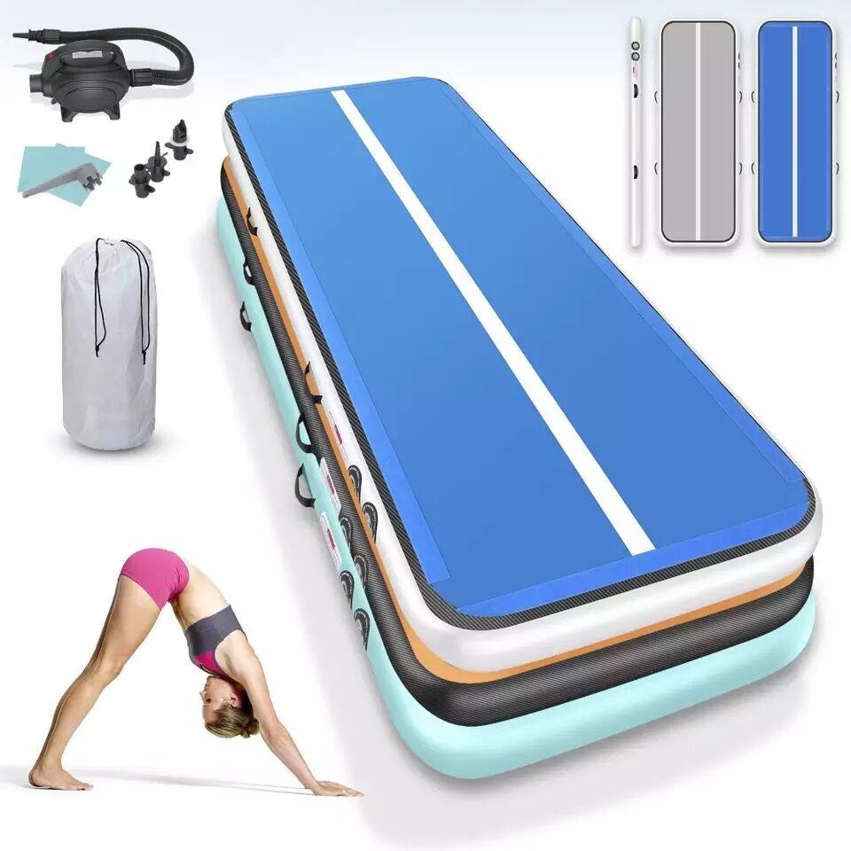 Hot Sale!2m 3m 4m Gymnastics Mats Inflatable Air Track Yoga Mat Olympic Gymnastics Tumble Airtrack Gymnastics Air Floor For Kids