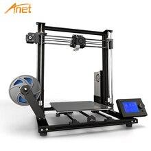 Новый Anet A8 Plus Модернизированный Высокоточный DIY 3D принтер самосборка 300*300*350 мм большой размер печати рама из алюминиевого сплава