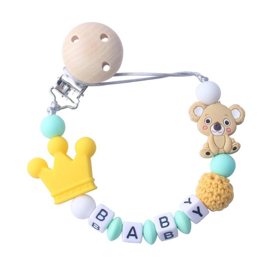 Grano de silicio bebé Chupete mordedor chupete Dummy clip juego ~ ~ libre de BPA chicas chicos