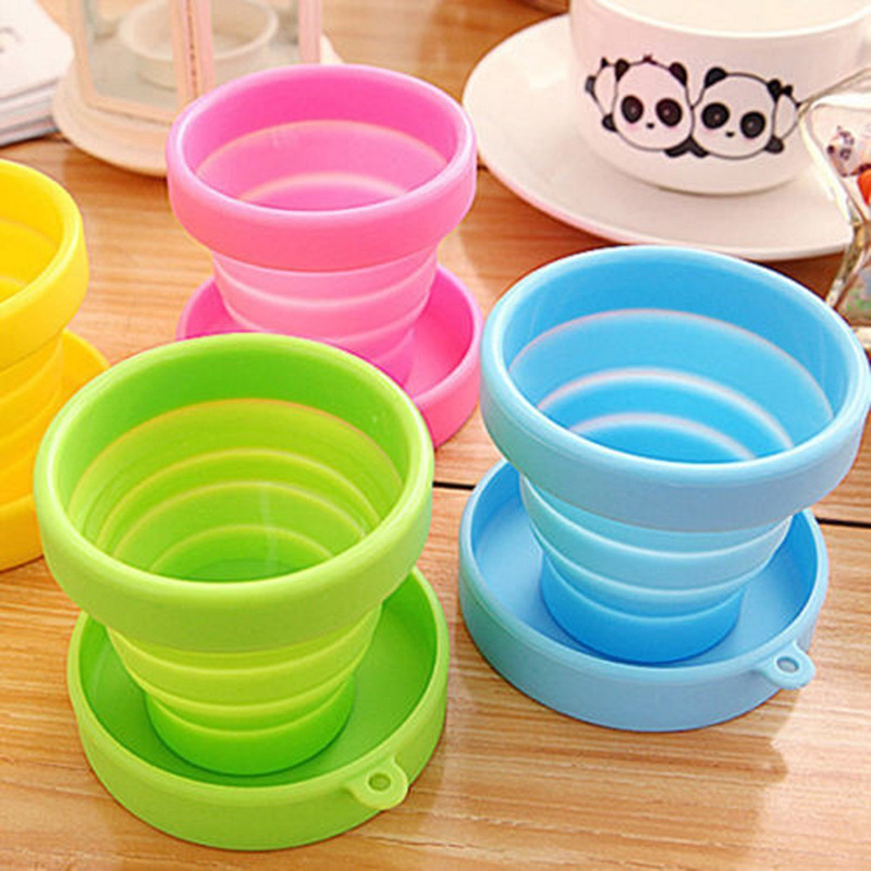 Menstrual Sterilizing Cup Collapsible Silicone Cups Flexible To Clean Menstrual Cup Recyclable Camping Foldable Sterilize Cup