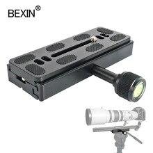 QR120 Adapter Camera Kẹp Nhanh Kẹp Dài Tấm Kẹp Gắn Điện Thoại Kẹp Cho Arca Chuẩn Chân Máy Đầu Camera