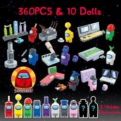 8 Stks/set Onder Ons Ruimte Alien Figuren Peluche Game Model Bouwstenen Kit Bricks Classic Kids Speelgoed Voor Kinderen Kids gift