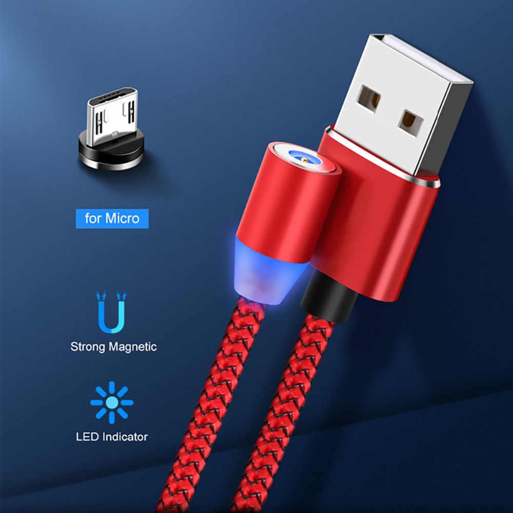 עבור סמסונג Xiaomi Redmi 7 Huawei honor 8X 8C Meizu LG alcatel Oukitel C8 אנדרואיד נייד טלפון מגנטי מיקרו USB מטען כבל