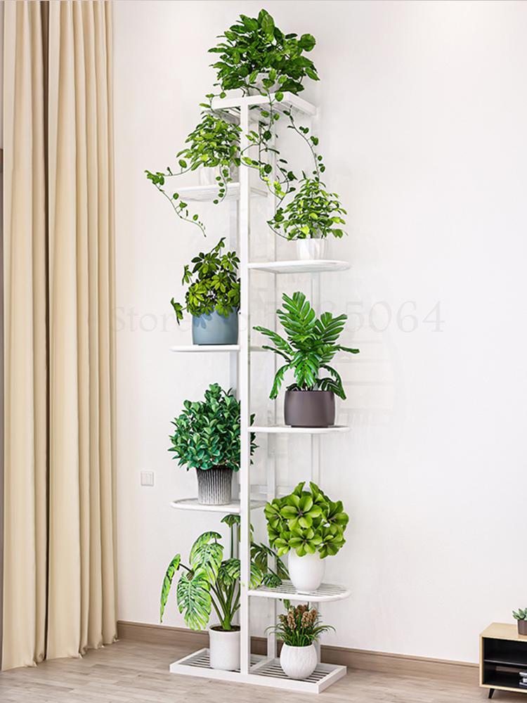 897 полка для цветов многослойное внутреннее украшение для домашнего балкона кованая железная стойка для гостиной простой цветочный горшок ...