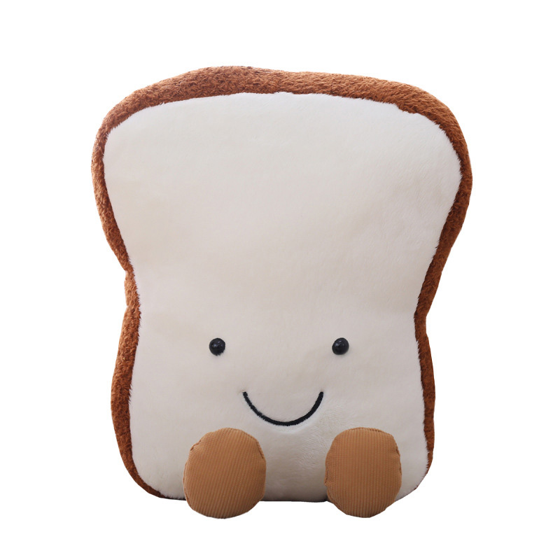 NEW Cartoon Cute Plush Toys Bread Shape Pillow Happy Toast Nap TOYS FOR kids Birthday Gift Sofa Toy Christmas