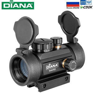 Tactical 1X40 MM Red Green Dot Sight Scope Optic Collimator Hunting Riflescope With 11/20MM Dovetail For Rifle Outdoor Air Gun
