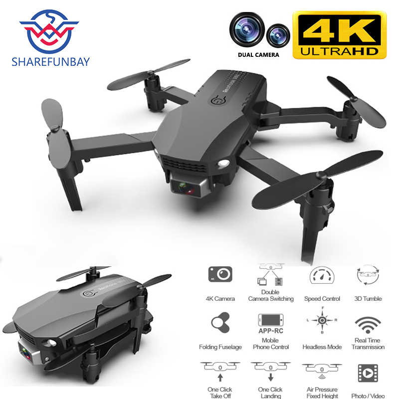 Baru R16 Drone 4K HD Dual Lensa Mini Drone WiFi 1080P Real-Time Transmisi FPV Drone Tinggi membuat Saya Foldable RC Quadcopter Mainan