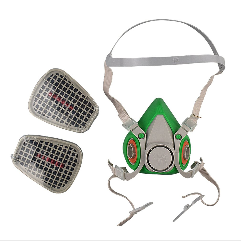 Gas Mask Respirator Filter Box Filters Safety Protective Mask Anti Dust Mask Industrial Refine Mine Spray Silica Gel Mask
