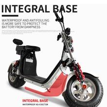 18 дюймов широкие шины двойной человек Электрический скутер автомобиль 60 в 12ah 1500 Вт гидравлическое давление дисковый тормоз взрослый мотоцикл CITYCOCO