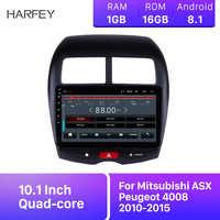 """Harfey nawigacja samochodowa gps 10.1 """"Stereo HD 2Din Android 8.1 Navi radio samochodowe dla Mitsubishi ASX Peugeot 4008 2010 2011-2015 odtwarzacz multimedialny"""