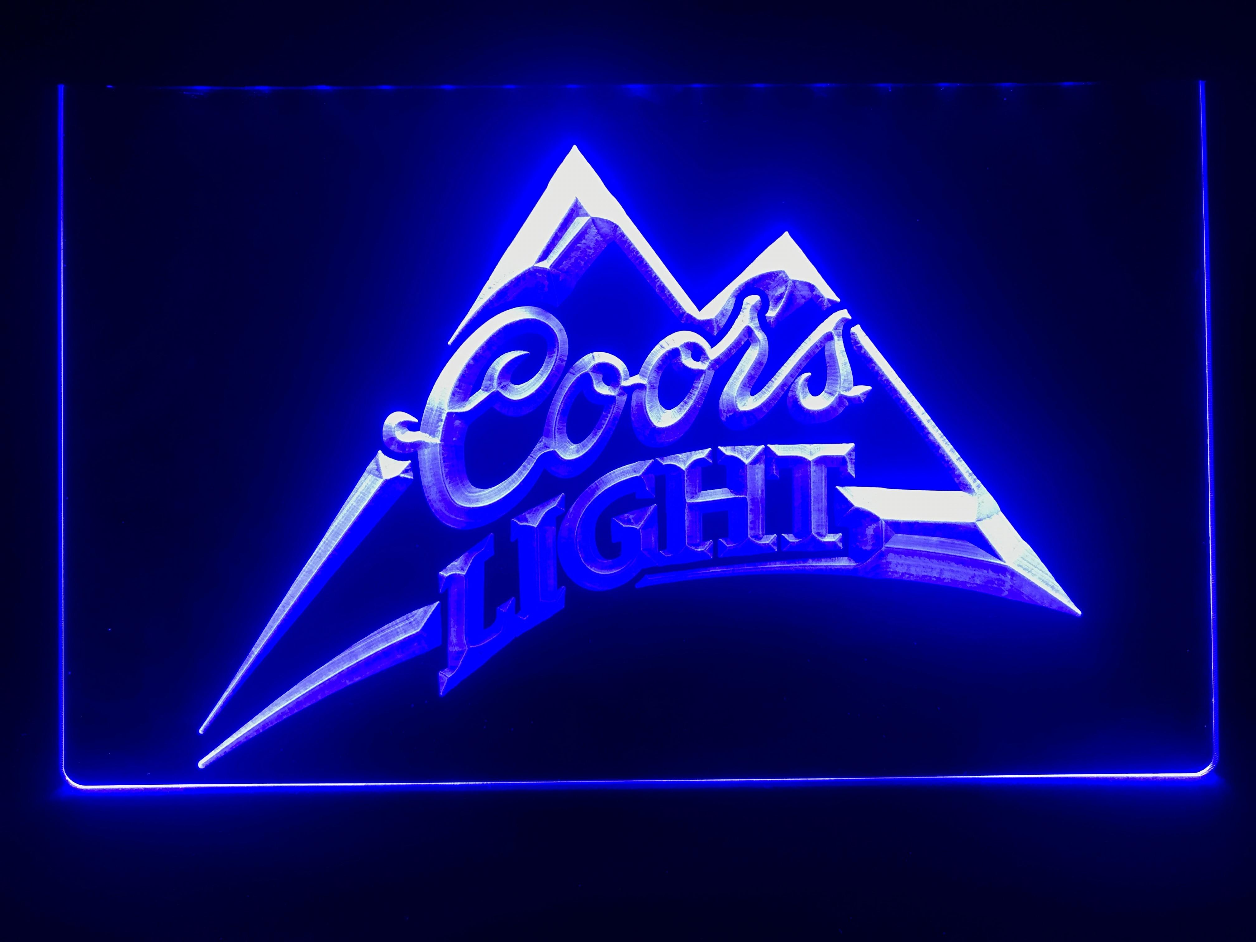004-светлый пиво Coors Бар Паб логотип светодиодный неоновый знак