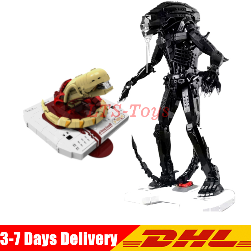 DHL XingBao <font><b>04001</b></font> 2020Pcs The Alien Robot Set + Aosst 04002 830Pcs The New Alien Set Model Building Blocks Bricks image