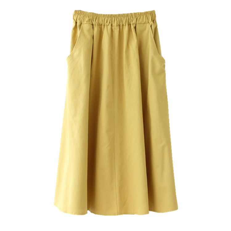 2020 Women A-Line Summer White Skirt Boho Stretch Waist Cotton Midi Skirt Casual Faldas Jupe Femme Saia Women Skirts