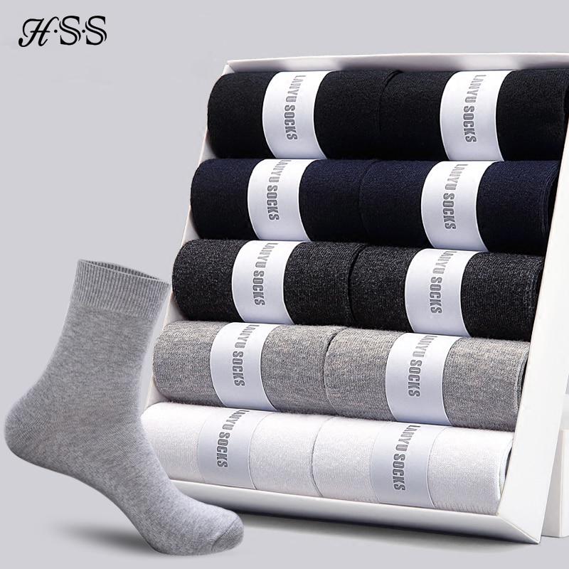 HSS хорошее качество хлопка мужские носки 2020 хлопковые носки новые стили 10 пар / много черных бизнесменов носки дышит зимой п|mens business socks|men socksmen socks business | АлиЭкспресс