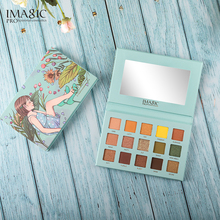 IMAGIC New Arrival Eye Shadow Palette Beauty Glazed Pigmented Glimmer Magnetic Colorful Professional Makeup GREEN
