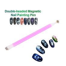 Новинка, двойная магнитная ручка, 3D лак для ногтей, УФ-гель, сделай сам, Маникюрный Инструмент