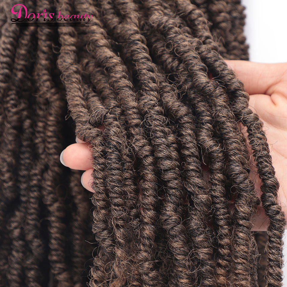 14 18 inch Passion Spring Twists Synthetic Crochet Hair Extensions Ombre Crochet Braids Pre Looped Bomb Twist Tresse Braiding image