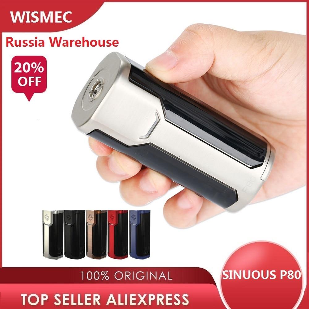 Original 80W WISMEC SINUOUS P80 TC MOD Max 80W Box Mod 510 Thread E-cigarette Mod Power By 18650 Battery Vape Mod vs Armour Pro