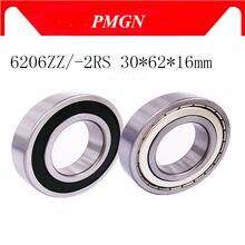 Pmgn 6206-2Z 6206ZZ 6206zz 6206 2RS Zz Groefkogellagers 30X62X16Mm