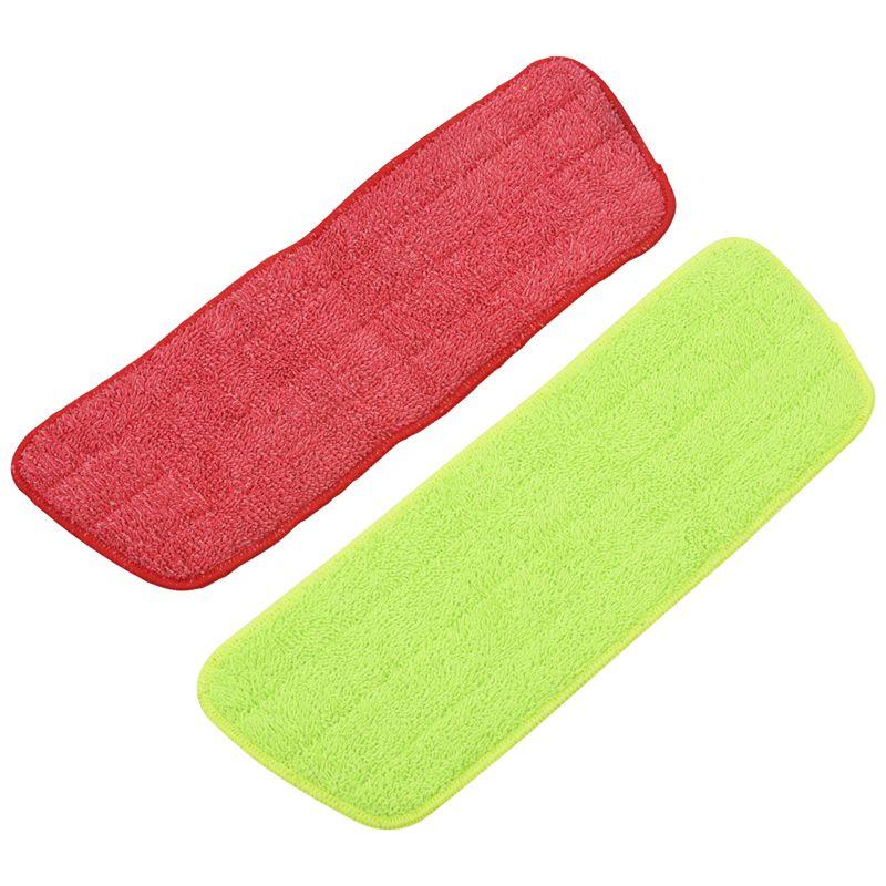 Ev ve Bahçe'ten Bezler'de 4 adet Sprey Paspas Yedek Pedleri Yıkanabilir Dolum Mikrofiber Islak/Kuru Temizleme Kullanımı Yeniden Kullanılabilir  temizlik Kaynağı (4 Paket  Yeşil ve Kırmızı) title=