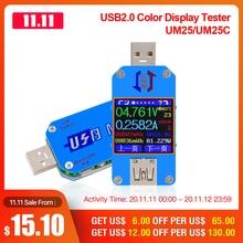 RD UM25 UM25C APP USB 2.0 tip c LCD voltmetre ampermetre gerilim akım ölçer pil şarj usb test cihazı