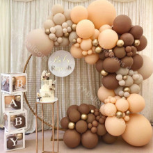 Balloons Garland Arch Metal Gold Globos Latex Retro Coffee Skin DIY Birthday Wedding Baby Shower Anniversary Party Decorations