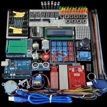 Arduino Uno R3 Uno R3 브레드 보드 및 홀더 스텝 모터/서보/1602 LCD/점퍼 와이어/UNO R3 용 스타터 키트