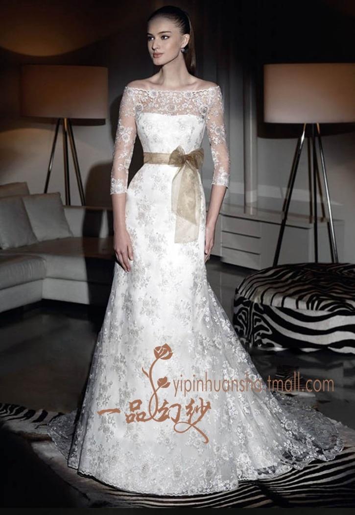 Bridal Gown Free Shipping Cheap 2016 New Fashionable Romantic Belt Vestido De Noiva Sleeves Bride Casamento Lace Wedding Dress