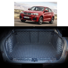 Lsrtw2017  Leather Car Trunk Mat Cargo Liner for Bmw X4 2014 2015 2016 2017 2018 BMW F26 Rug Carpet Interior Accessories