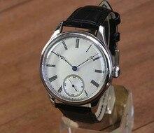 44 ミリメートル GEERVO 凸ミラーホワイトダイヤル 6497 17 宝石メカニカルハンド風ムーブメントメンズ腕時計機械式時計 gr314 g8