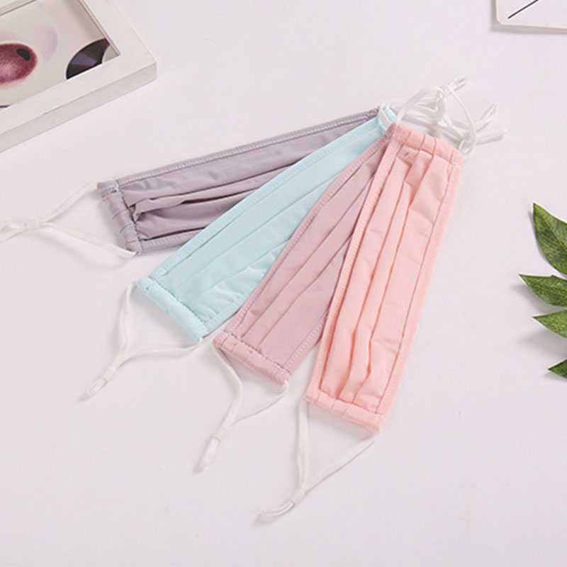 1PC  Windproof  Washable Face Mask Men Women Mouth Mask Reusable High Quality Masks New Arrival Summer Ice Silk Face Mouth Masks