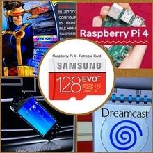 Retropie sdカード128ギガバイトラズベリーパイ4 14000 + ゲーム45 + エミュレータプリロードdiyエミュレーションステーションesファミコンfc ps neogeo psp pc