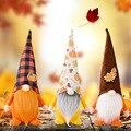 Декор на День Благодарения, домашний осенний фестиваль сбора, тыква, кленовый лист, без лица, стоячая кукла, украшение, праздничный подарок