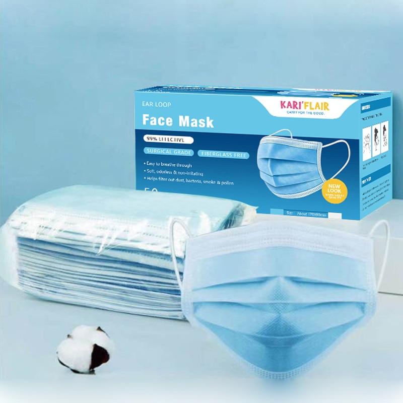 disposable surgical face mask blue - 100 pieces