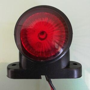 Image 2 - 2Pcs Marker Lichter Für Auto Anhänger Position Licht Lkw Traktor Hinten Freiheit Lampe LED Rot Weiß 12V 24V Parkplatz Seite Lichter
