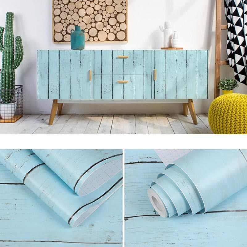 Vintage Alte Holzmaserung Tapete Selbst Klebe Wasserdichte Pvc Wand Aufkleber Wohnzimmer Mobel Schrank Zahler Top Aufkleber Aliexpress