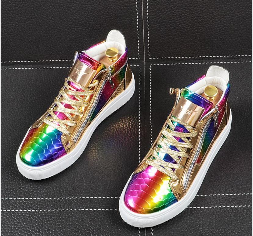 Mens Designer Shoes Italian Brand gold