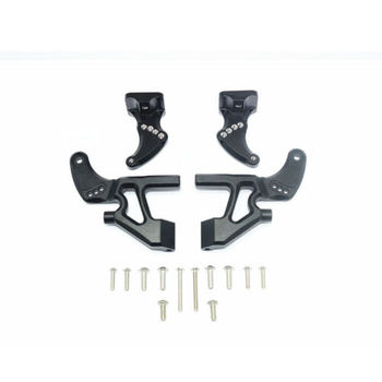 Blue Car Accessories | 1 Pcs/Set Alloy Rear Wing Arm W/ Fixed Code For E-REVO 2.0 86086-4 RC Car Black Blue Assemblage Metal Accessory Cars