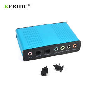 Kebidu External USB 2.0 Sound Card 6 Channel 5.1 Audio Card Converter Adapter CM6206 Chipset Audio Adapter for PC Laptop