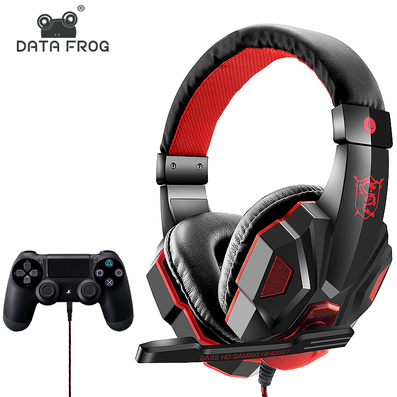 Wired Gaming Earphones For Nintend For Mobile Phone Headphones Mic Stereo Supper Bass For Sony PlayStation 4 PS4 Earphone