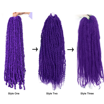 Passion Twist Crochet Hair Synthetic Braiding Hair Extensions 18Inch 15 Strands Spring Twist Hair 100g/Pack Long Black Brown 5