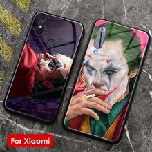 2019 film Joker Joaquin Phoenix silicone glass cover phone case for xiaomi mi 8 9 se lite max mix 2 2s 3 redmi note 5 6 7 8 pro(China)