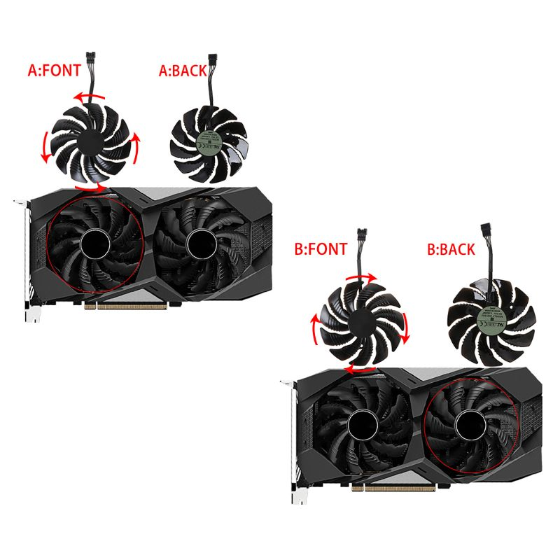 2020 New T129215SU 85mm Cooling Fan Cooler for Gigabyte Geforce GTX 1050 1050TI 1060 1070 image
